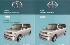 2005 Scion xB Factory Service Manual Set Original Shop Repair