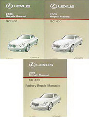 2008 Lexus SC430 Factory Service Manual Set Original Shop Repair