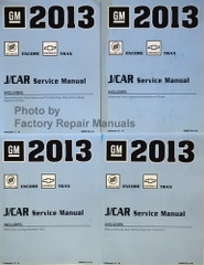 2013 Buick Encore Chevy Trax Service Manual Volume 1, 2, 3, 4