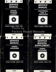 1991 Service Manual Front Wheel Drive Car Volume 1, 2, 3, 4