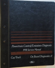 Powertrain Control/Emissions Diagnosis 1998 Service Manual Car/Truck Ford