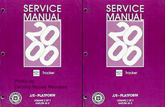 2000 Chevy Tracker Factory Service Manual 2 Volume Set Original Shop Repair