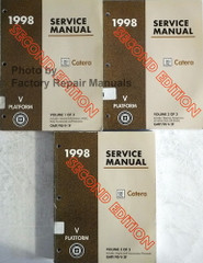 1998 Cadillac Catera Factory Service Manual Volume 1, 2, 3