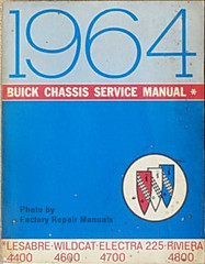 1964 Buick Chassis Service Manual LeSabre Wildcat Electra 225 Riviera