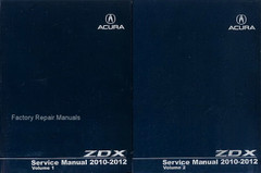2010-2012 Acura ZDX Factory Service Manuals