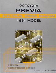 1991 Toyota Previa Electrical Wiring Diagrams