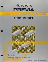1992 Toyota Previa Electrical Wiring Diagrams