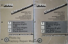 1996 Bonneville, Park Avenue, Le Sabre, 88, 98 Regency Factory Service Manual Volume 1, 2