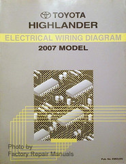 2007 Toyota Highlander Electrical Wiring Diagrams