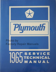 1965 Plymouth Service Technical Manual