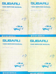 1988 Subaru Factory Service Manuals
