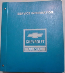 1985 Chevy Pick-up Truck Suburban Van Shop Manual in Binder