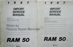1987 Dodge Ram 50 Service Manual Volume 1, 2