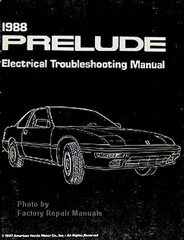 1988 Honda Prelude Electrical Troubleshooting Manual
