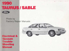 1990 Ford Taurus Mercury Sable Electrical & Vacuum Troubleshooting Manual