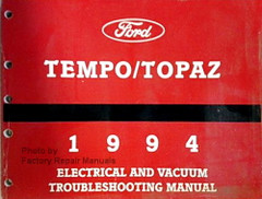 1994 Ford Tempo Mercury Topaz Electrical & Vacuum Troubleshooting Manual