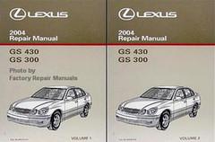 2004 LEXUS GS 430 GS 300 Repair Manual Volume 1, 2