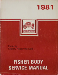 1981 GM Fisher Body Service Manual