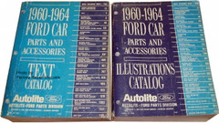 1960-1964 Ford Car Original Parts & Accessories Catalog 2 Volume Set