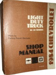 1984 Chevrolet Light Duty Truck 10-30 Series Shop Manual
