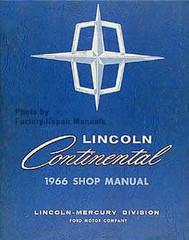 1966 Lincoln Continental Shop Manual