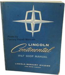 1967 Lincoln Continental Shop Manual