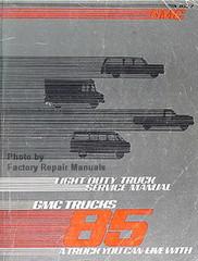 1985 GMC Light Duty Truck Service Manual