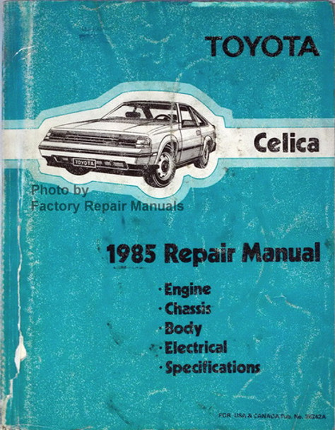 1985 Toyota Celica Factory Service Manual Original Shop ...