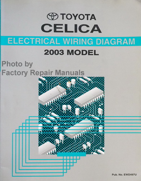 2003 Toyota Celica Electrical Wiring Diagrams Original