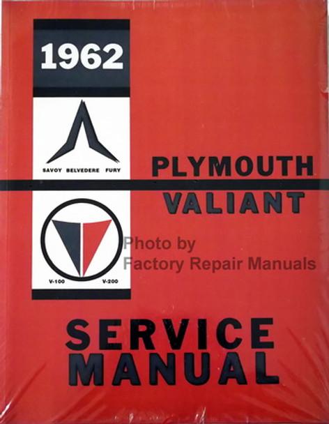 1962 Plymouth Valiant Factory Shop Service Manual Belvedere Fury Savoy  Reprint
