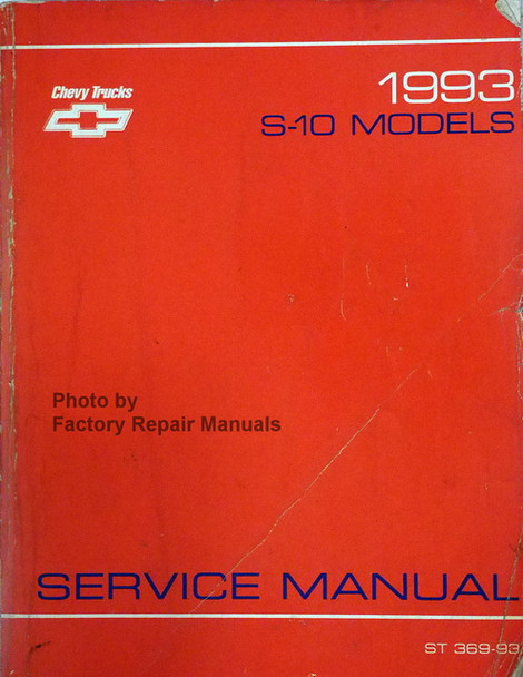 1993 Chevy S10 Truck Blazer Factory Service Manual
