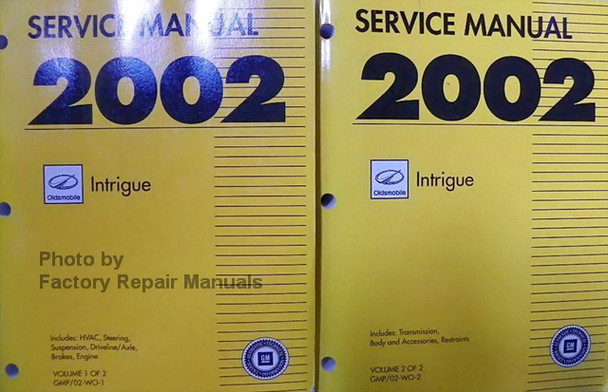 2002 Oldsmobile Intrigue Factory Service Manual Set Original Shop Repair