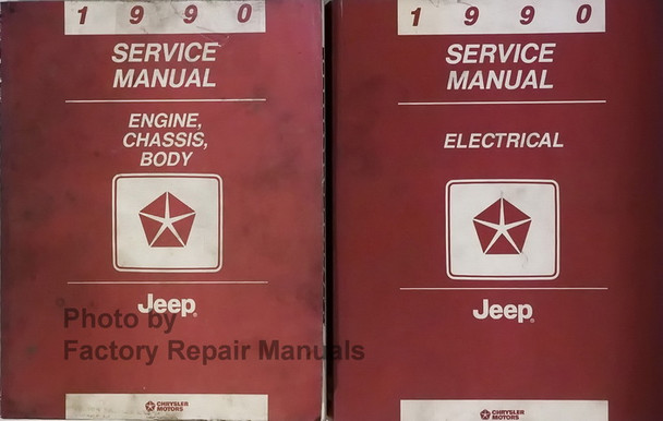1990 Jeep Cherokee Comanche Wrangler Grand Wagoneer Service Manuals