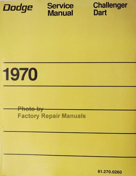 Dodge Service Manual Challenger Dart 1970