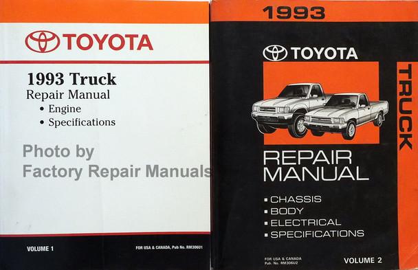 1993 Toyota Pickup Truck Factory Service Manual Set