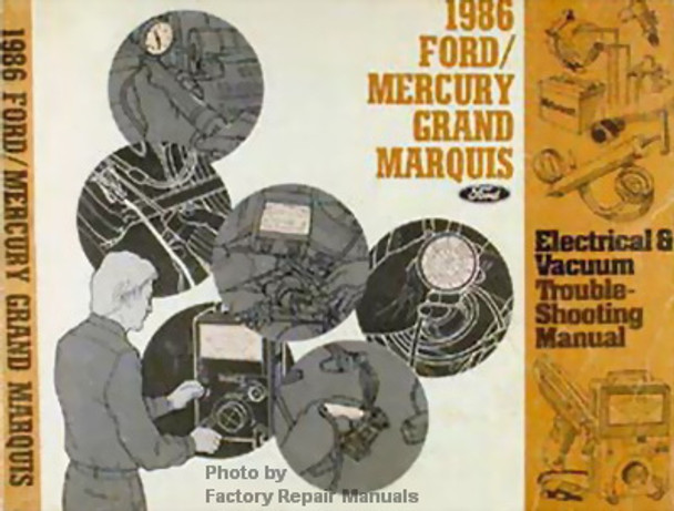 1997 Mercury Grand Marquis Electrical Troubleshooting Manual Ford Crown Victoria