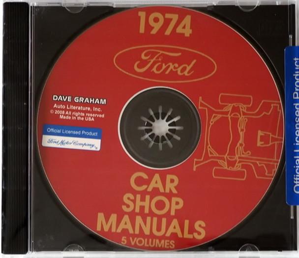 1974 Ford Car Shop Manual Volume 1, 2, 3, 4, 5 on CD