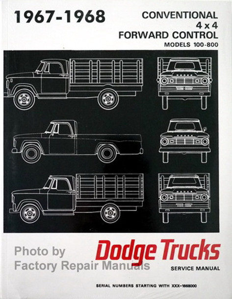1967 1968 Dodge Truck Factory Shop Manual Service Repair Reprint D Wiring Diagram Dodge on