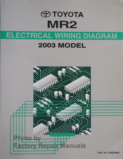 2003 Toyota Mr2 Spyder Electrical Wiring Diagrams Original