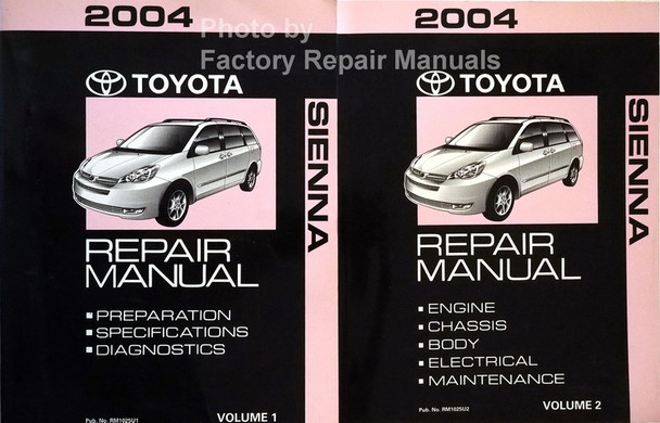 2004 Toyota Sienna Repair Manual Volume 1, 2
