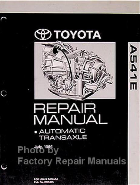 Toyota A541E Repair Manual Automatic Transaxle