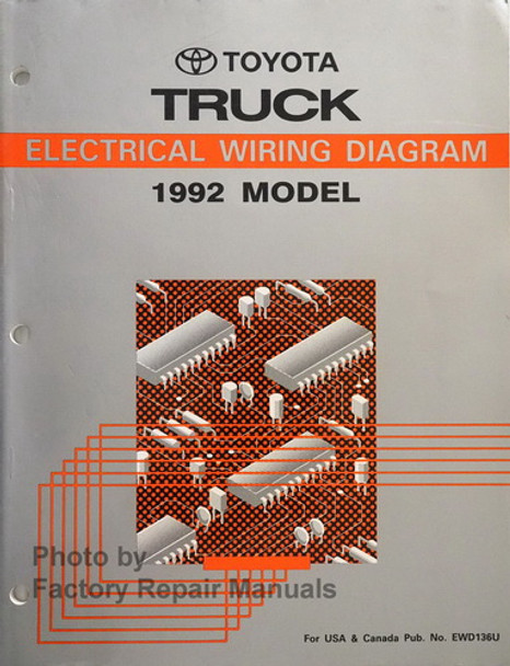 1992 Toyota Truck Electrical Wiring Diagrams