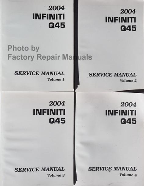 2003 Infiniti Q45 Service Manual Volume 1, 2, 3, 4