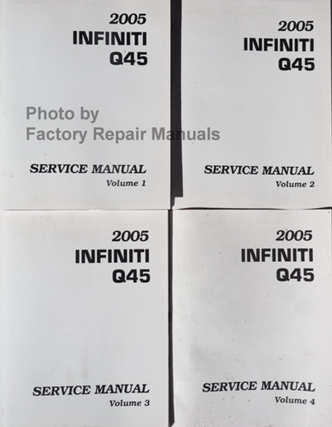 2005 Infiniti Q45 Service Manual Volume 1, 2, 3, 4