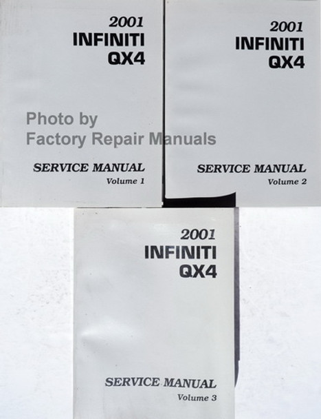 2001 Infiniti QX4 Service Manual Volume 1, 2, 3
