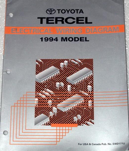 1994 Toyota Tercel Electrical Wiring Diagrams Original