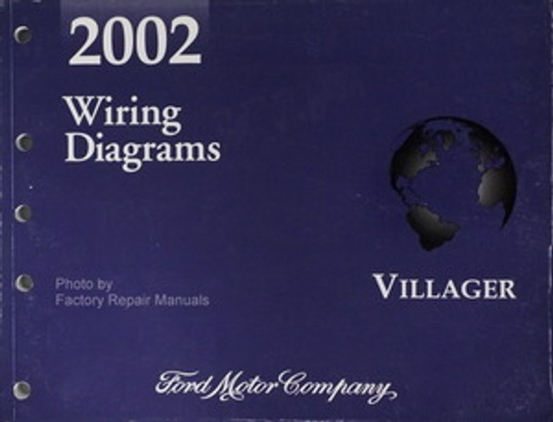 2002 Mercury Villager Electrical Wiring Diagrams Original