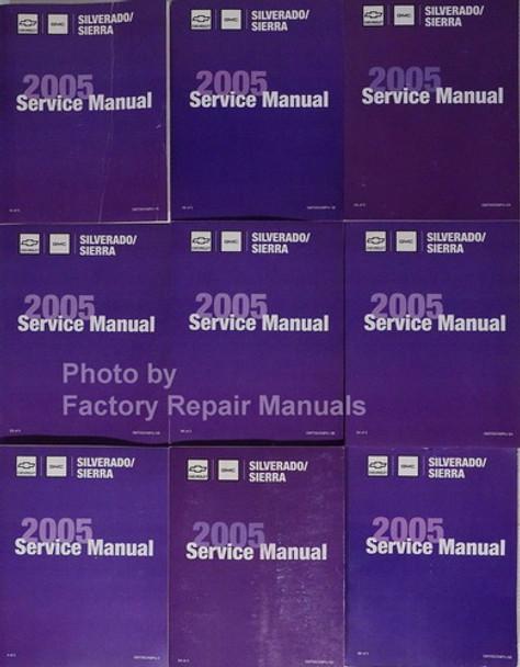 2005 Chevy Silverado GMC Sierra Factory Shop Service Manual Set