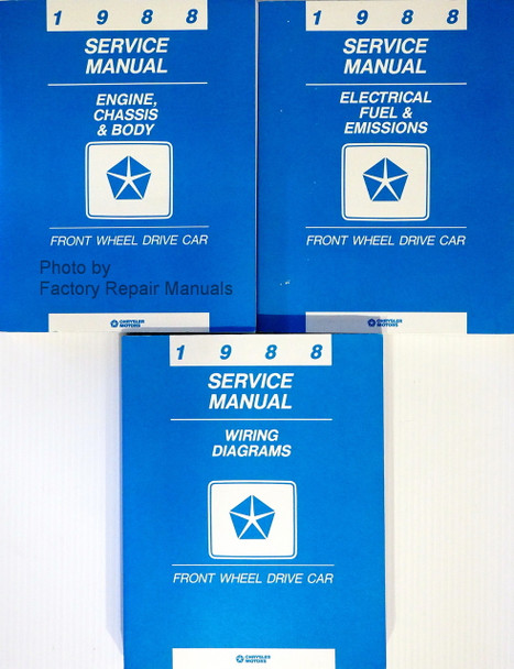1988 Chrysler Plymouth Dodge FWD Car Service Manuals