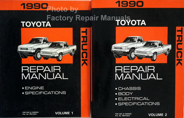 1990 Toyota Truck Factory Service Manual Set Original Shop